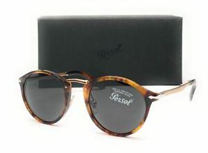 PERSOL PO3248S 108 B1 Havana Brown Round Unisex Sunglasses 49 mm