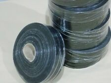 REINFORCING sew on tape - binding tape pvc poly webbing BLACK 50m roll NEW