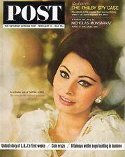Saturday Evening Post February 15 1964 Sophia Loren Story Kim Philby Spy Case