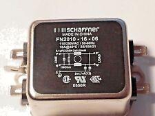 SCHAFFNER POWER LINE FILTERS 110/250VAC  FN2010-16-06 EMI 16A 740UA