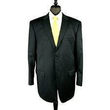 Pronto mens navy blue Super 140s wool blend blazer jacket sport coat 44L
