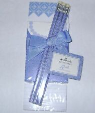 Hallmark STATIONERY GIFT SET 2 Notepads/Pencils Blue Pattern NRFP Free Shipping!