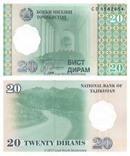 Tajikistan 20 Dirams 1999 P-12 Antigua URSS Billetes Unc