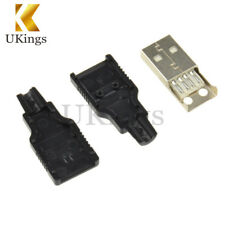 10PCS Male Adapter Connector jack&Black Plastic Cover USB2.0 Type-A Plug 4-pin