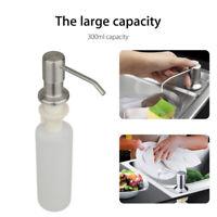 Distributeur de savon en acier inoxydable évier bouteille de pompe à sa YR