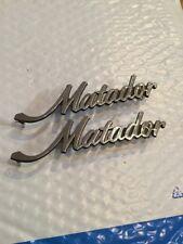 Vintage Pair AMC Matador 5 1/2 Inch Emblem 3633534