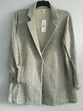 NWT $298 Eileen Fisher ASH Notch Collar  Organic Cotton Long Jacket size 2X