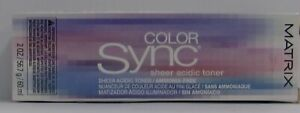 Matrix COLOR SYNC SHEER ACIDIC TONER Demi-Permanent  Hair Color ~ 2 fl. oz.!!