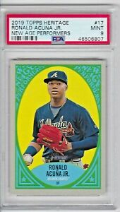 2019 Topps Heritage RONALD ACUNA JR #17 New Age Performers PSA9 MINT