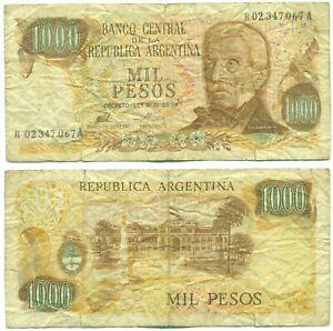 ARGENTINA NOTE 1000 PESOS (1975/76) PORTA-MONDELLI B# 2444 REPLACEMENT P 299