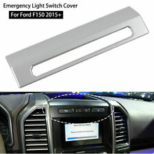 Silver Emergency Light Switch Cover Frame Bezel Trim Panel For Ford F150 2015-19