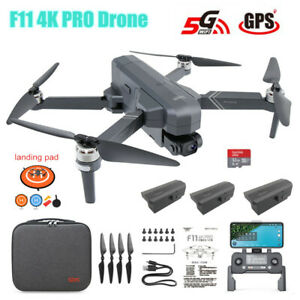 F11 Pro 4K 2-Axis Camera Drone Brushless Wifi FPV GPS RC Quadcopter 1500m Gift