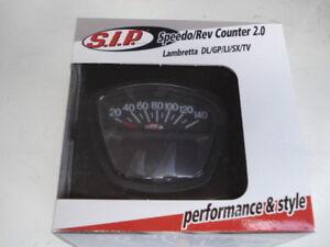 SIP V2 Black Series 3 Lambretta digital speedo rev counter fuel warning