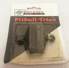 Vintage Old School ODYSSEY Pitbull-Triax Retro Brake Shoes NOS Freestyle Black