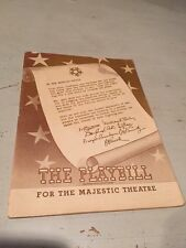 RARE Vintage Carousel Playbill WWW II WAR BONDS 1st Month 1945 Majestic Theatre