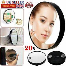 20 x Magnifying Mirror Eye Makeup Professional Pocket Vanity Eyebrow Tweezing UK