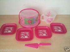 Tupperware  Hello Kitty Mini Toys Set Cake taker Measuring Pitcher Plates New