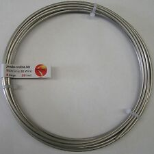 Nichrome 80 resistance wire, 8 AWG (gauge), 20 feet