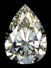 3 ct Pear Vintage Brilliant Top Russian CZ Moissanite Simulant  12 x 7  mm