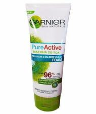 50ml. Garnier Pure Active MATCHA DE-TOX Pollution + Oil Deep Clean Facial Foam