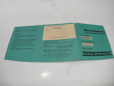 GDR Warranty card for Motorcycle battery 6V 12Ah AKA Electric MZ ES RT BK