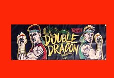 LARGE Double Dragon Arcade Video Game Banner Flag Poster