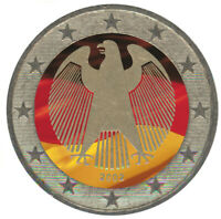 2 Euro Kursmünze BRD / Deutschland Adler coloriert / Farbe /  Farbmünze / 2019 A