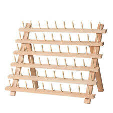 """60-Spool Wood Sewing Embroidery Thread Stands Holder Rack Organizer 12.6""""x15.7"""""""