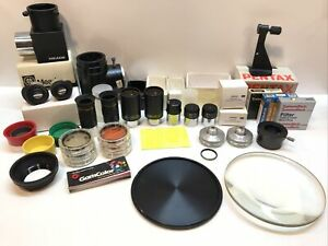 Meade Telescope Eyepiece Lot 38mm 26mm 10mm 9mm W/ 48mm Filters & More