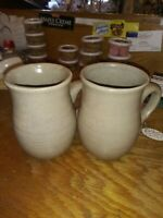 Handcrafted Salt Glazed Pottery Mugs Made in USA