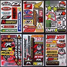 Motocross Racing Dirt Rider Car Bike Nascar Helmet Decal Stickers 6 sheets