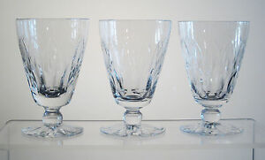 "CANTERBURY WEBB CORBETT Footed Juice Glasses 4"", SET of THREE"