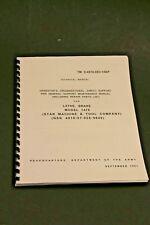 Star Machine 1476 Disc 1400 Drum Brake Lathe Operation Amp Parts Manual