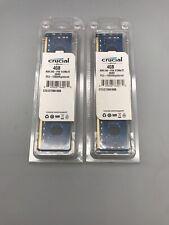 Lot of 2 Crucial Micron 4GB 512Mx72 DDR3 PCS-12800