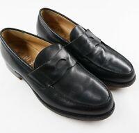 Church's Custom Grade Black Calf Penny Loafers Made in England 60G EU40 US Ms 7