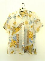 Vintage Callan Designs Light Casual Shirt Made In Australia Abstract Pattern