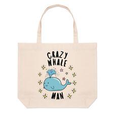 Crazy ballena hombre estrellas grandes Playa Bolso Hombro-animales graciosos