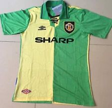 MANCHESTER UNITED SHIRT TOP Cantona 7 Size XL NEWTON HEATH RETRO JERSEY