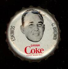 1965 COKE CAPS COCA-COLA + CAP CORK CFL FOOTBALL Charley Brown ESKIMOS EX-NM