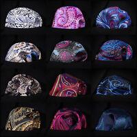Paisley Floral Men Silk Pocket Square Hanky Wedding Party Handkerchief #B7