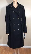 New TOMMY HILFIGER  WOMAN BLACK LONG WOOL COAT L ($275)