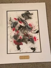 rare Black Tie Affair Moneigh painting, lock of hair Breeders Cup Classic winner