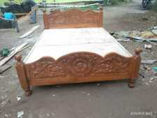 Flower carving Color - Walnut Finish, Style: Contemporary cot  Size 5*6.5