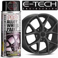 ETech PRO Alloy Wheel Refurbish & Customise Spray Paint -Midnight Metallic Black
