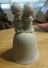 Vintage 1981 Precious Moments The Lord Bless And Keep You Wedding Bell
