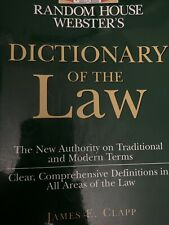 Random House Websters Dictionary Of The Law
