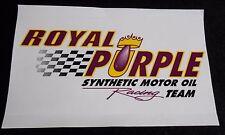 ROYAL PURPLE OIL RACE TEAM STICKER DECAL IMPORT MUSTANG CAMARO CHALLENGER HEMI