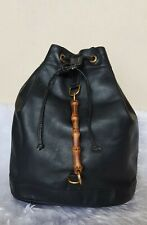 Authentic Preloved Gucci Bamboo Leather Backpack