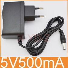 AC 100V-240V Adapter DC 5V 500mA Switching power supply 0.5A EU 5.5mm x 2.1mm