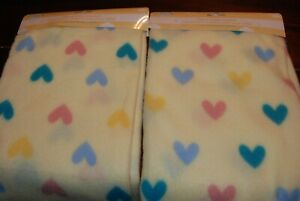 Oh So Pretty Yellow Baby Receiving Blanket with Hearts